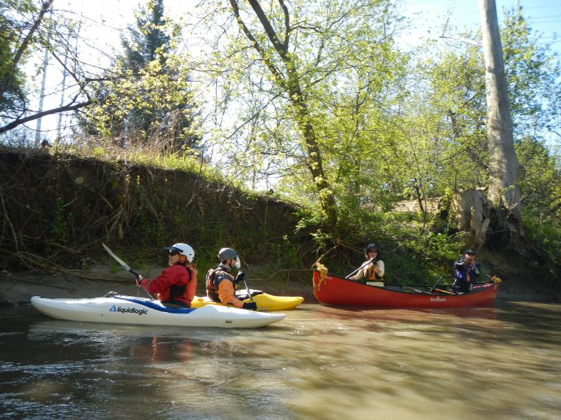 Paddlers in the Don